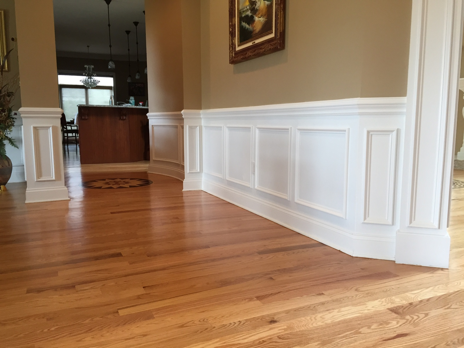 Lovely Chair Rail Uneven Floor Part - 4: Wainscoting