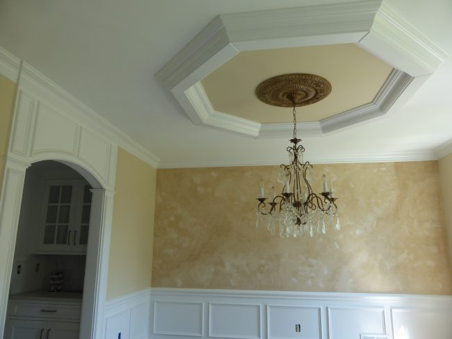 Ceiling designs crown molding nj for Coffered ceiling styles