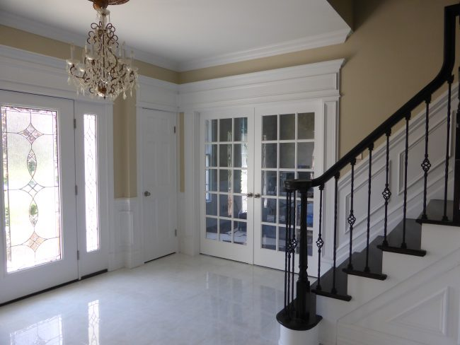 Foyer Trim Design : Foyer design designs by crown molding nj llc