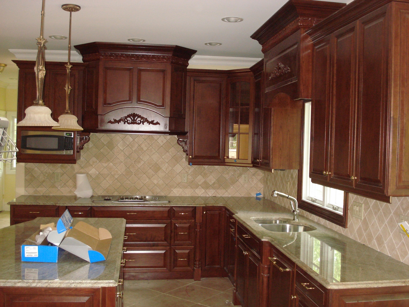 Kitchen cabinets kitchen cabinets by crown molding nj for White kitchen cabinets with crown molding